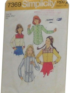 1970's Womens/Childs Sewing Pattern