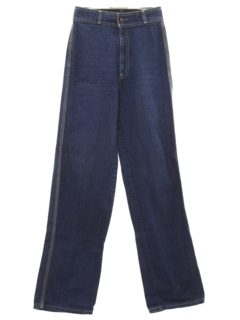 1970's Womens Wide Leg Jeans Pants