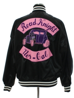 1980's Mens Car Club Baseball Style Jacket*