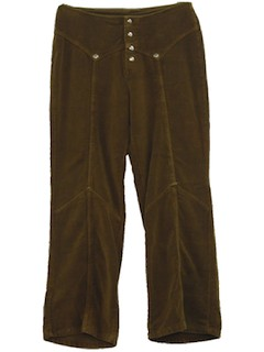 1970's Womens Corduroy Bellbottoms Pants*