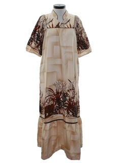 1970's Womens MuuMuu Hawaiian Maxi Dress