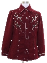 Womens Knit Western Style Leisure Shirt Jac Shirt