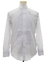 Mens Pleated French Cuff Tuxedo Shirt
