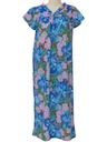 Womens Hawaiian Maxi Muu Muu Dress