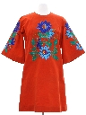 Womens Embroidered Hippie Mini Dress