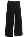 Mens Wool Navy Bellbottoms Pants