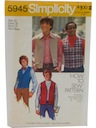 Mens/Boys  Sewing Pattern
