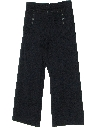 Mens Wool Navy Bellbottom Pants