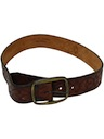 Mens Accessories - Stamped Leather Hippie Belt