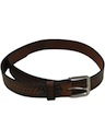 Mens Accessories - Braided Look Stamped Leather Hippie Belt