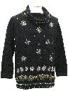 Womens Totally 80s Style Ugly Christmas Cocktail Sweater