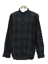 Mens Preppy Plaid Sport Shirt