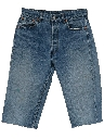 Mens Wicked 90s Grunge Cut-off Distressed Levis Jeans Shorts