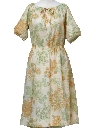 Womens Floral Knit Hippie Dress