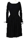 Womens Designer Little Black Cocktail Dress