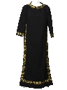 Womens Mod Knit Hippie Maxi Dress