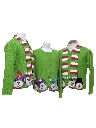Womens Matching Set of Three Ugly Christmas Sweaters