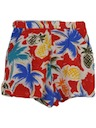 Womens Totally 80s Hawaiian Style Shorts