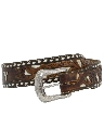 Womens Accessories - Tooled Leather Western Belt