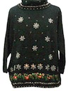 Womens Lightup Oversized Slouch Fit Ugly Christmas Cocktail Sweater