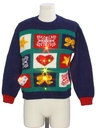 Womens Vintage Totally 80s Lightup Country Kitsch Ugly Christmas Sweater