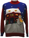 Unisex Lightup Totally 80s Ugly Christmas Sweater