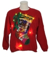 Womens Country Kitsch Style Lightup Ugly Christmas Sweater