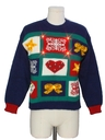 Womens Vintage Country Kitsch Style Lightup Totally 80s Ugly Christmas Sweater