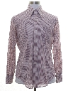 Mens Sheer Subtle Print Disco Shirt