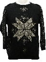 Unisex Totally 80s Ugly Christmas Snowflake Sweater