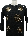 Womens Ugly Christmas Cocktail Snowflake Sweater