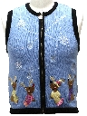 Unisex Petite Ladies, Girls or Boys Bear-riffic Ugly Christmas Sweater Vest