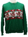Unisex Vintage Bear-riffic Ugly Christmas Sweater-Look Sweatshirt