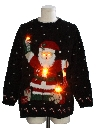 Unisex Vintage Amber Lightup Ugly Christmas Sweater