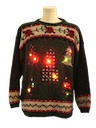 Unisex Country Kitsch Style Lightup Ugly Christmas Sweater