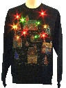 Unisex Lightup Ugly Christmas Sweatshirt