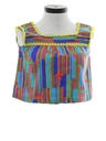 Womens or Girls Cropped Hippie Shirt