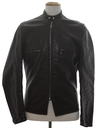 Mens Cafe Racer Leather Motorcycle Jacket