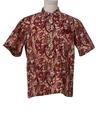 Mens Batik Print Sport Shirt