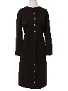 Womens Mod Wool A-line House Dress