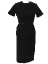 Womens Fab Fifties Little Black Wool Cocktail Dress