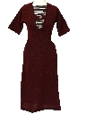 Womens Fab Forties Wool Day Dress