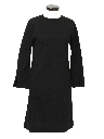Womens Designer Mod Wool A-Line Dress