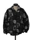 Womens Totally 80s Hip Hop Oversized Windbreaker Jacket
