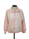 Womens Totally 80s Track Style Windbreaker Jacket