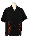 Mens Rockabilly Rave Style Work Shirt