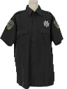 Mens Police Style Work Shirt
