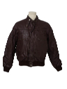 Mens Cafe Racer Leather Motocross Members Only Style Jacket