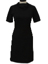 Womens Little Black Mini Knit Dress