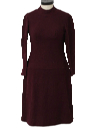 Womens Wool Mod Dress